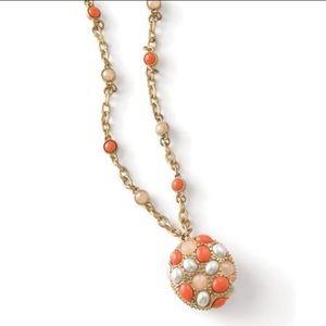 Lia Sophia Empress Orange Matte Gold Necklace